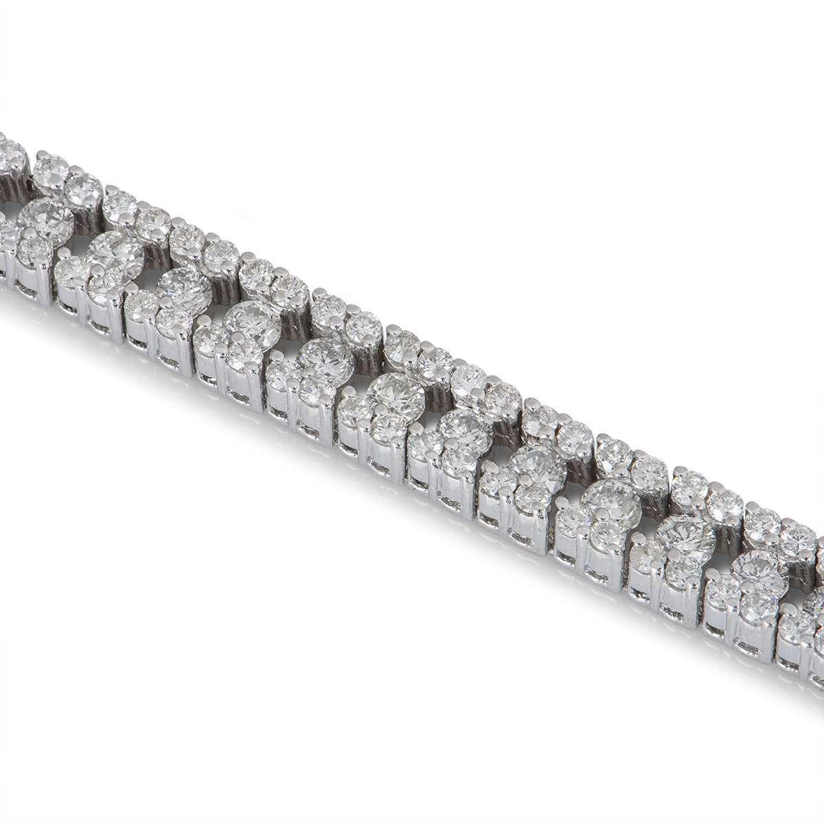 White Gold Diamond Line Bracelet 5.50ct